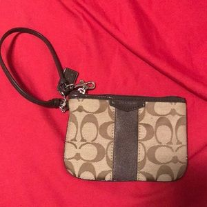 Coach small wristlet wallet
